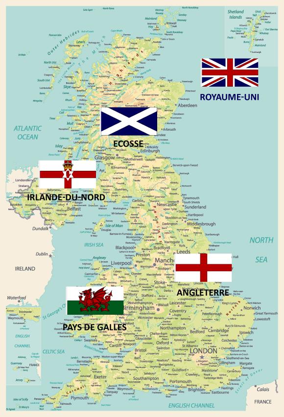 Carte Royaume Unis.Geographie Et Carte Du Royaume Uni